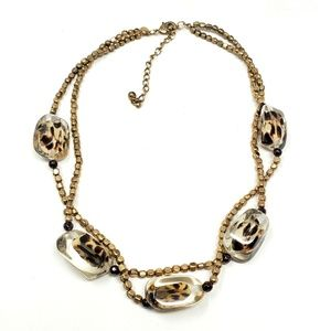 Chico's Fashion Beaded Statement Necklace